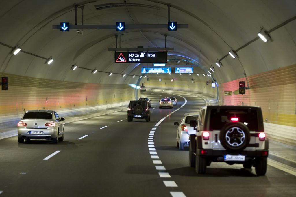 Provoz v tunelu Brusnice