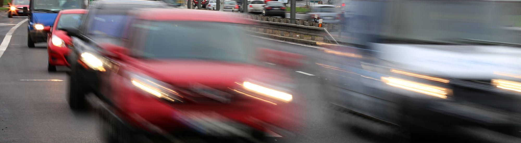Meziroční srovnání intenzit dopravy
