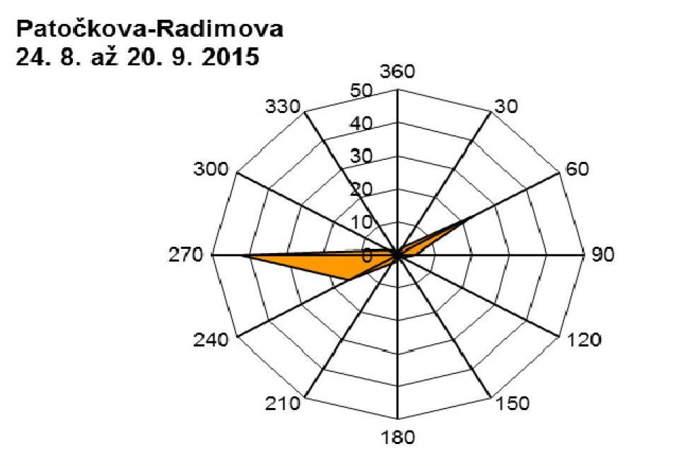 Patočkova - 09.2015 - větrná růžice