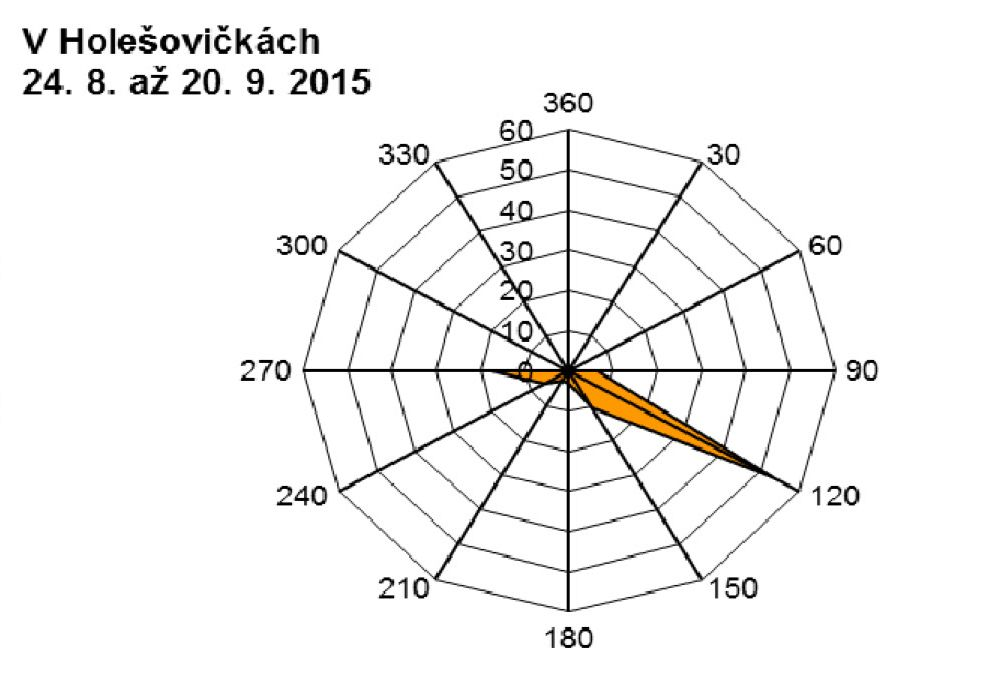 V Holešovičkách - 09.2015 - větrná růžice