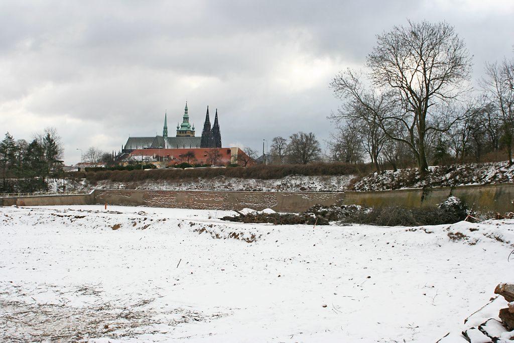 Prašný most v únoru 2009